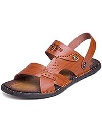 Juans-shoes Herren sandalen Herren Klassische Echtleder Schuhe Slip-on Atmungsaktive Perforation Weiche Flache