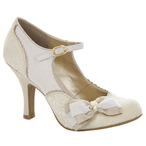 Ruby Shoo Maria - Cream/Gold 4 UK -
