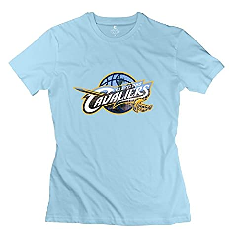 KFR Women's Tshirts Basketball Cleveland Logo Size S SkyBlue