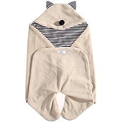 Demarkt Mantas de bebe Manta arrullo de invierno para bebe, Perfecto compatible la sillas de coche,para cochecitos de ninos , Sillas de paseo o cunas