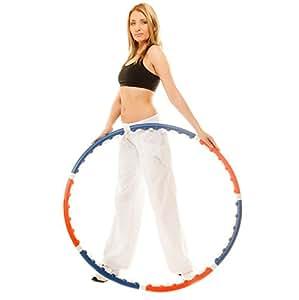 Hoopomania Massage Hula Hoop Reifen - Fitnessreifen mit 35 eingebauten Massagenoppen zum Abnehmen für Erwachsene, Anfänger und Fortgeschrittene