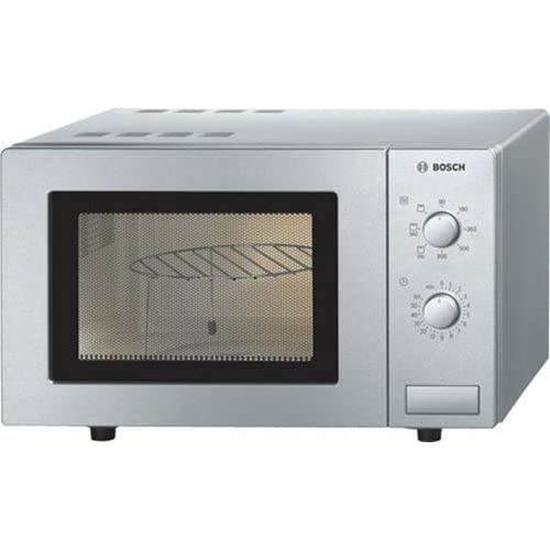41E5Vz833SL. SS500  - Bosch Serie 2 HMT72 450B Brushed Steel 800W Compact Microwave with Grill with 17 Litre Capacity