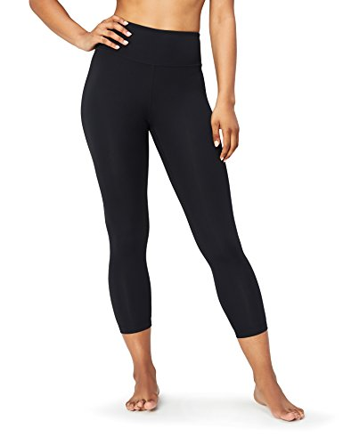 Yoga Crop Legging (Core 10 Damen 7/8-Yoga-Leggings mit hohem Bund, Schwarz (black), X-Small)