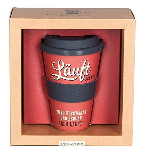 Grafik Werkstatt // Bambusbecher // Kaffeebecher // Coffee-to-Go // Trinkbecher // 400 ml // Bamboo-to-go // Läuft bei mir