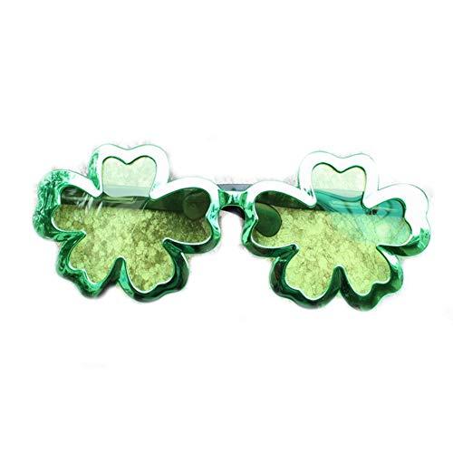 rick Tagesirische Kleeblatt-Blätter-Shutterbrille Kreative Kostüm Brille ()