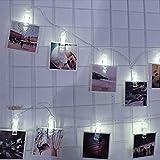 Lichterkette,FeiliandaJJ 2.3M 20pcs USB-Fotoclip-Lichterkette LED Licht Hochzeit Party Halloween Xmas Innen/Außen Haus Deko String Lights (Weiß)