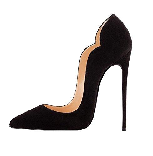 Soireelady scarpe donna con tacco,high heel scarpe,scarpe con tacco alto donna nero eu36