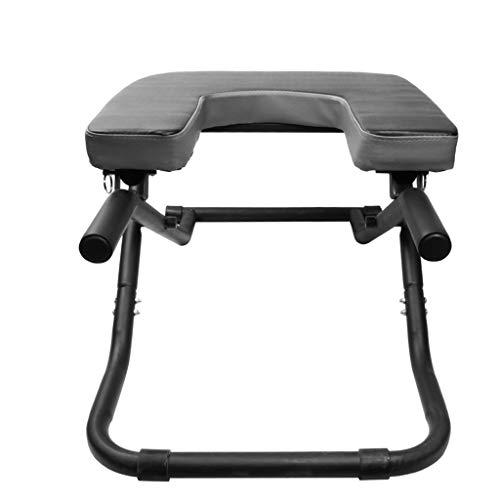 ZL Silla de Yoga Fitness Banco de inversión, Silla de Yoga Banco de reposapiés, Silla equilibrada Cabecera de pie Banco Silla Ideal, Original Bodylift Headstander (Color : Negro)
