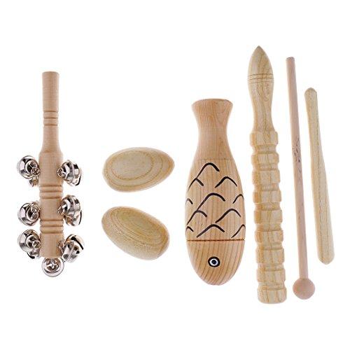 Baoblaze Kid Percussion Rhythmus Fisch Ton Block Sand Shakers Eier Baby Musical Spielzeug