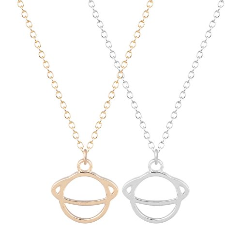 2pcs-fashion-jewelry-golden-silver-pretty-saturn-planet-pendant-statement-choker-collar-necklace-wom