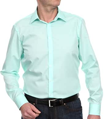 Venti Herren Businesshemd Slim Fit 001480/304, Gr. 36, Grün (304 grün)