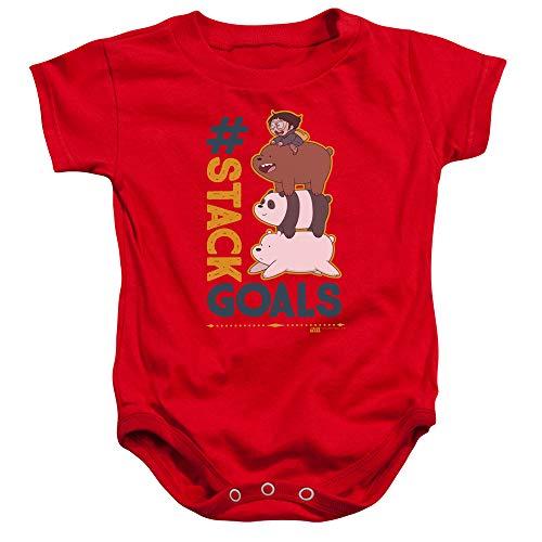 We Bare Bears - - Buts de la Pile Enfant en Bas âge, 24 Months, Red