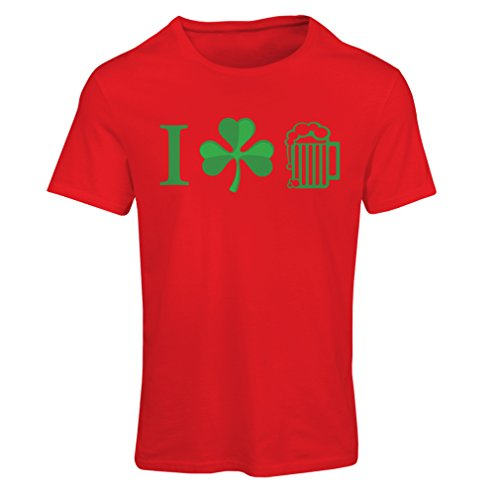 Kostüm Breakfast Club (Frauen T-Shirt The Symbols of St. Patrick's Day - Irish Icons (XX-Large Rot)