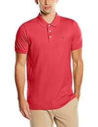 Hilfiger Denim Tjm Basic S/S 1, Polo Homme, Rouge (Raspberry Wine), X-Large