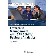 Enterprise Management with Sap Sem Tm/ Business Analytics (SAP Excellence) by Marco Meier (2010-01-14)