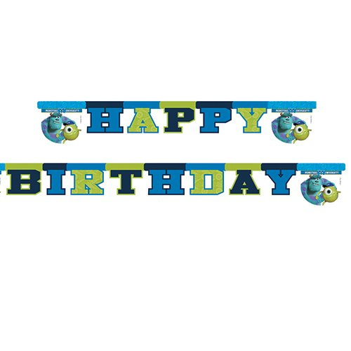 1 Partykette * MONSTERS UNIVERSITY * für Party und Geburtstag von DISNEY / PIXAR // Kindergeburtstag Kinder Feier Fete Set Banner Girlande Wimpelkette Banner Deko Motto Monster (Pixar Party Supplies)