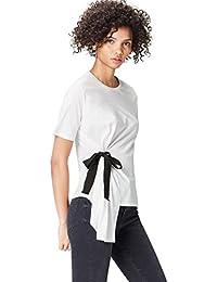 FIND T-Shirt con Fiocco Donna