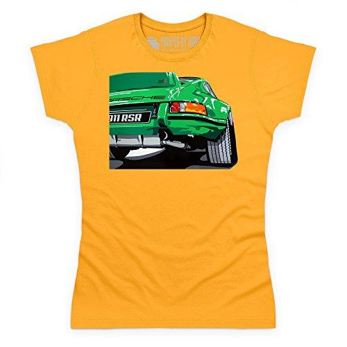 Nine Eleven RSR Sports Car T-Shirt, Damen Gelb