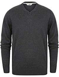 3e7ec1a53674 Tokyo Laundry Mens Plain V Neck Jumper Knitted Pullover Cotton Sweater
