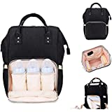 Shanbuyers Diaper Bag, Baby Bag, Mummy Bag, Handbag, Nursery Bag Stylish Maternity Cum Travelling Backpack (Black)