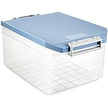 Tatay 1150107 Caja de Almacenamiento Multiusos con Tapa, 14 l de Capacidad, Azul,