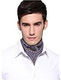Prettystern - patterned squared men´s bandana trendy modern neckscarf 100% silk in various colours and patterns