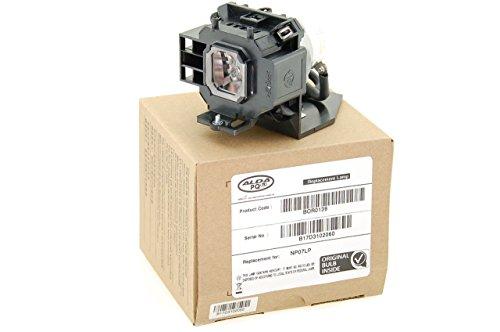 Alda PQ® - Original Beamerlampe / Ersatzlampe NP07LP für NEC NP400 NP500 NP500W NP600 NP300 NP410W NP510W NP510WS NP610 NP610S Projektoren, Originallampe mit PRO-G6s Gehäuse / Halterung