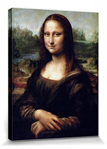 Leonardo Da Vinci - La Gioconda Cuadro, Lienzo Montado Sobre Bastidor (80 x 60cm)