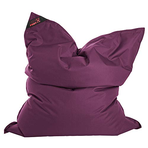 SITTING POINT only by MAGMA Sitzsack Scuba Big Foot 130x170cm aubergine (Outdoor)