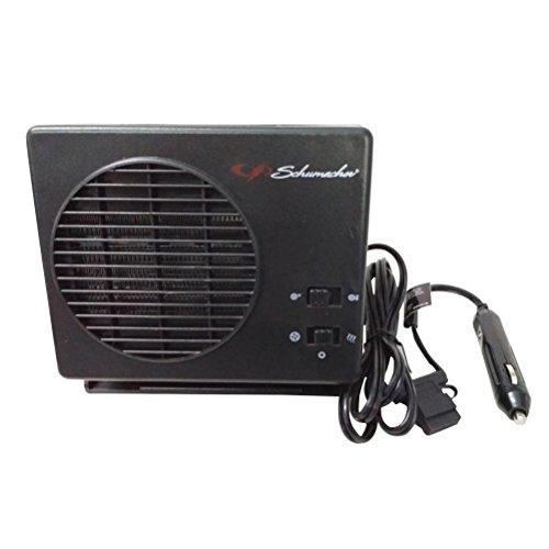 Calefactor portátil para vehículo Winomo, 12 V, para limpiaparabrisas, anti escarcha, con conector para mechero del coche (color negro)