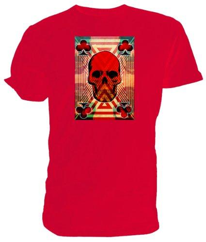 Club Teschio T Shirt, Emo, Goth Rosso