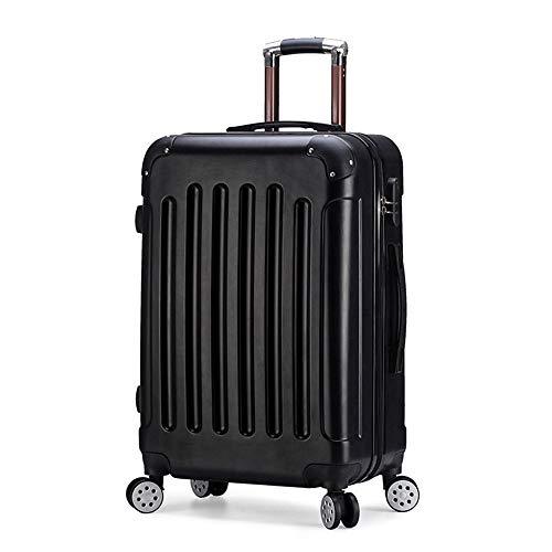 PKJI Leichte große Kapazität Männer und Frauen Koffer Gepäck 24-Zoll-Aluminiumrahmen Trolley Password Box Durable Waterproof Rotating Whee.l -