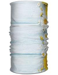 89463e13e0 ERCGY Woman Men Turban Seasonal Garden Flowers On Blue Wooden Planks Rustic  Arrangement Print Get Together