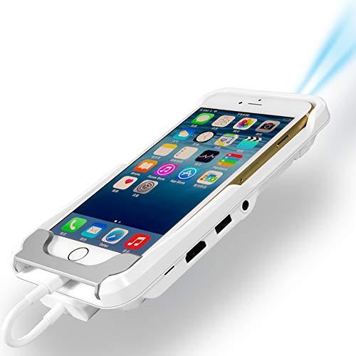 ZUKN Mini Phone Projektor TV Mini WiFi Portable LED Smart HD Video 1080P HDMI für iPad iPhone 6 7 8 X Plus White