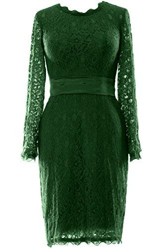 MACloth - Robe - Trapèze - Manches Longues - Femme Vert - Vert foncé