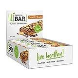 HEJ Protein Bar - Protein Riegel Low Carb - Eiweißriegel ohne Zuckerzusatz – Fitness Riegel Protein - Geschmack Chocolate & Peanuts - 12er Pack (12 x 60g)