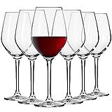 Krosno Kleine Rot-Weingläser   Set von 6   300 ML   Splendour Kollektion   Perfekt für zu Hause, Restaurants und Partys   Spülmaschinenfest und Mikrowellengeeignet