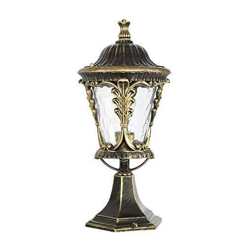 1-licht-post-lampe (Xiao Fan ▶ Bronze Outdoor Garten IP55 bewertet Poller Lampe Post Licht 1-Licht Outdoor Laterne Aluminium Lampenkörper mit Glas Lampenschirm E27 ◀)