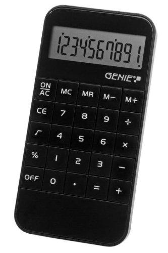 Taschenrechner Genie 40B elegant 10stellig schwarz batteriebetrieb, Verpackungseinheit: 3 Stück