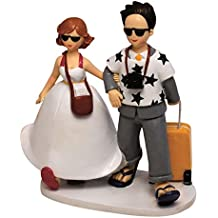 Mopec Y572 - Figura de pastel pareja de novios viajeros, 19 cm