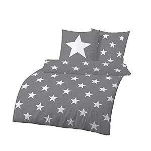 Bettwäsche 155220 Baumwolle Sterne Deine Wohnideende