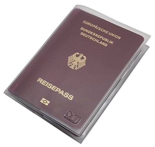 Custodie per passaporto con 2 scomparti mj-design-germany made in ue in diversi colori (trasparente)