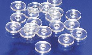 Preisvergleich Produktbild Kunststoffunterlegscheiben U-Scheiben aus Kunststoff,  6 / 16 mm,  transparent,  100 Stück