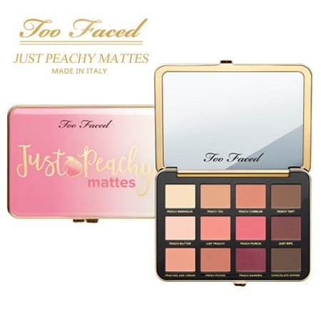 TOO FACED Just Peachy Velvet Matte Eye Shadow Palette – Peaches and Cream Collection (Limited Paletten Edition Eye Shadow)