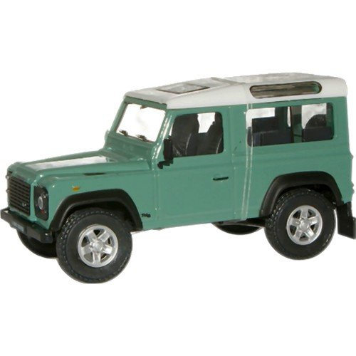 land-rover-defender-90-light-green-with-white-roof-from-cararama-1-43-scale-diecast
