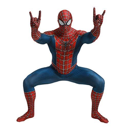 Kostüm Spandex Anpassen - Halloween Cosplay Kostüme Engen Body Onesies 3D Spinne Ganzkörper Druck Herren Lycra Spandex Zentai Cosplay Anime Kostüm -Maskentrennung,Spiderman,M