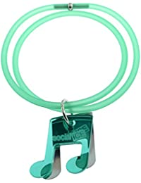 Tatitoto Bracelet Femme en Acier/Méthacrylate/PVC Vert, Ligne SocialTube, Réglable, 10 Grammes