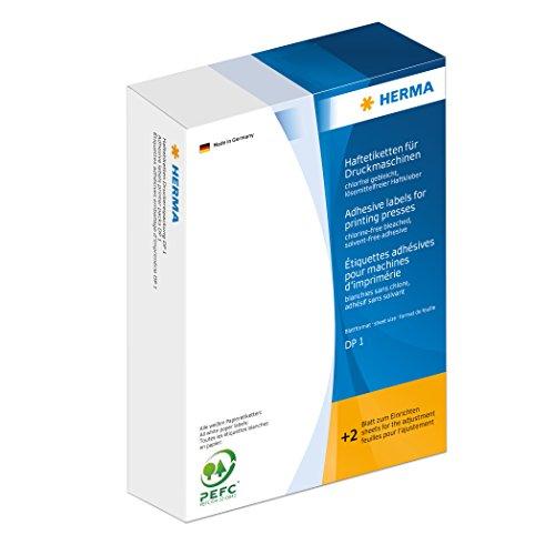 Herma 2900 Haftetiketten (für Druckmaschinen DP1, Papier matt, 20 x 50 mm) 5000 Stück weiß