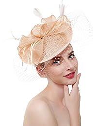 MAZY Abito di canapa nuziale Tiara Banchetto nuziale di nozze Copricapo  europeo e americano Banchetto per capelli Accessori per capelli… 29dc8bf17d67