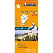 Carte Franche-Comté 2016 Michelin
